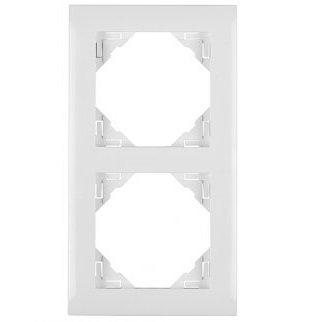 Espelho Duplo Marfim - Logus90 - Electricidade -Aurymat
