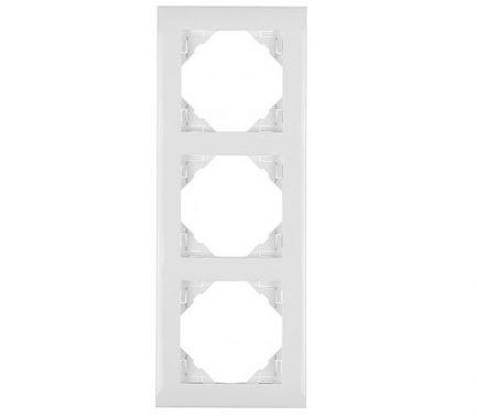 Espelho Triplo Marfim para tomadas e interruptores - Logus90 - Aurymat
