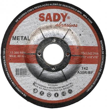Disco de corte ferro 115x3,2mm - SADY - Aurymat