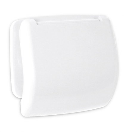 porta rolos com tampa olympia plastico branco 1 - Aurymat
