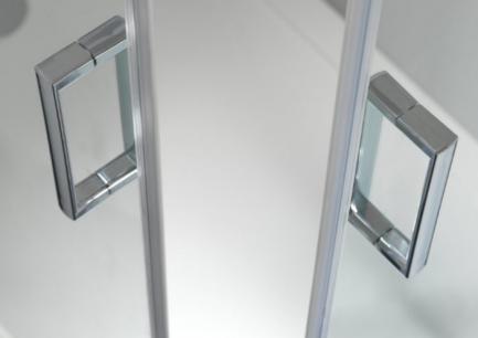 cabine de duche vidro cromado 1 - resguardo - Casa de banho - Aurymat