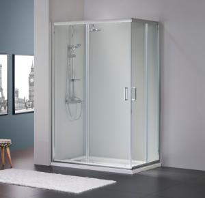cabine de duche vidro cromado - resguardo - Casa de banho - Aurymat