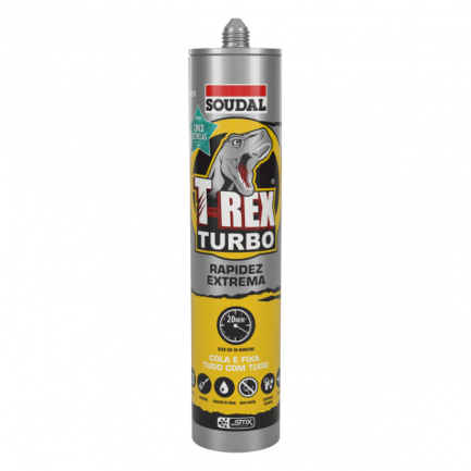 340599 cola e veda t-rex turbo branco soudal 290ml