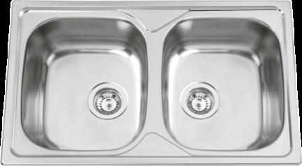 Lava Louça Flat 1P½+1E 100x50 - RODI - Cozinha - Aurymat