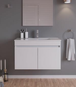 movel casa banho suspenso lavatorio pipa - Aurymat