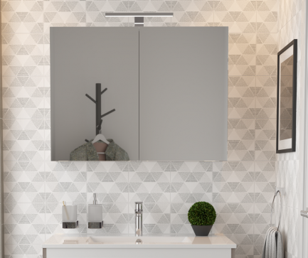 Espelho/camarino casa banho mar branco - Aurymat