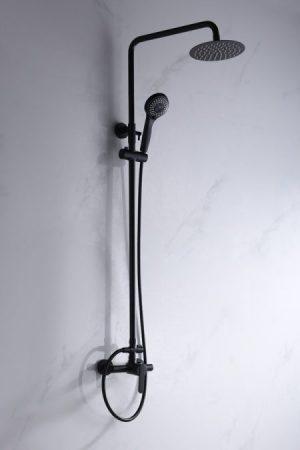 rampa de duche roma imex monocomando preto - casa de banho - Aurymat