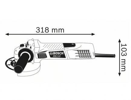 rebarbadora bosch GWS 7-115 2