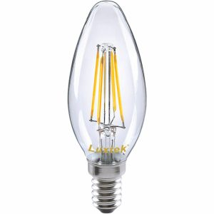 lampada classic filamentos led chama c35 - Aurymat
