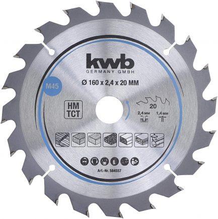 disco de serra 584557 160x20 kwb - Aurymat