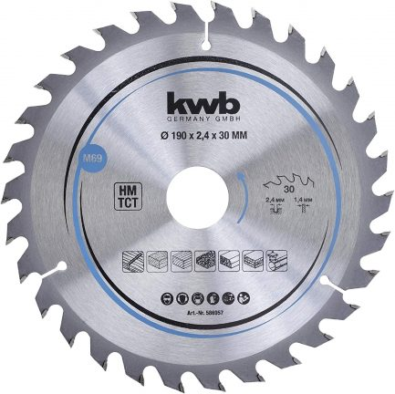 disco de serra 586957 190x30 kwb - Aurymat