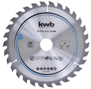 disco de serra 587857 210x30 kwb - Aurymat