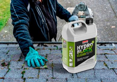 Aplicação Solução anti-fungos Hydro Block Clean 5L Soudal - Aurymat