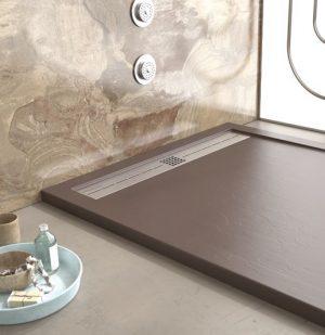 Base de duche CACH chocolate texturada- casa de banho - Aurymat