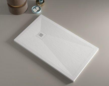 Base de duche PLUS Branca texturada - Casa de banho - Aurymat