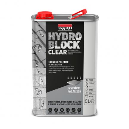 Hidrofugante Hydro Block Clear 5L Soudal - Aurymat