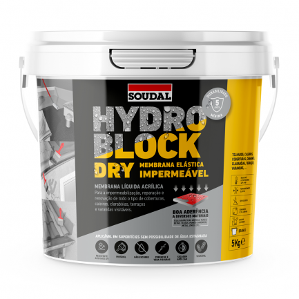 Impermeabilizante Hydro Block Dry 5kg - Soudal - Aurymat