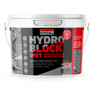 Impermeabilizante Hydro Block Wet 5kg Soudal - Aurymat