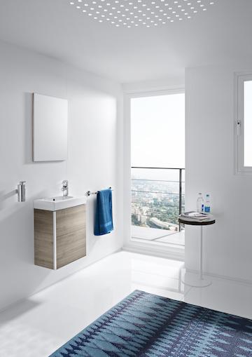 Móvel Casa de banho e espelho Unik Mini Areia Texturada 2 - ROCA - Aurymat