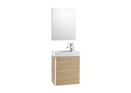 Móvel Casa de banho e espelho Unik Mini Carvalho Texturado - ROCA - Aurymat