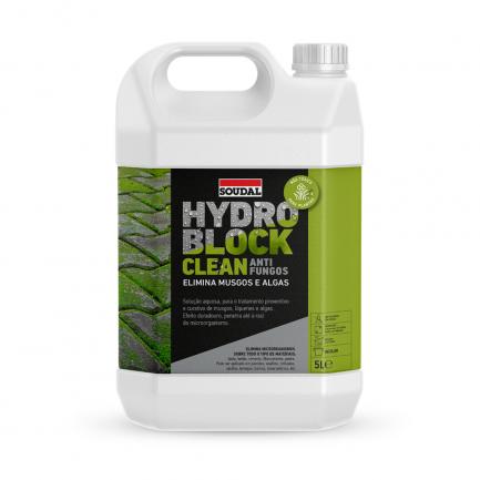 Solução anti-fungos Hydro Block Clean 5L Soudal - Aurymat