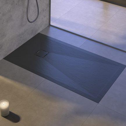base duche Hidden preta texturada - Casa de Banho - Aurymat