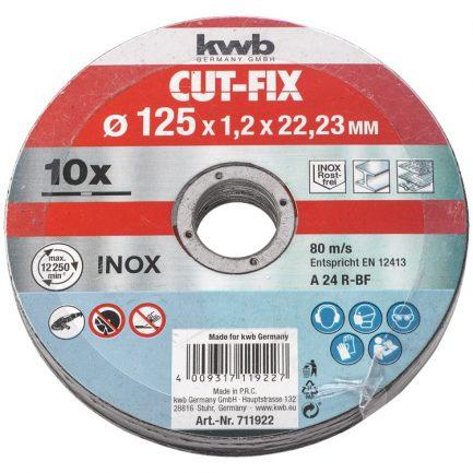 10 discos de corte inox 115 kwb 711921 1