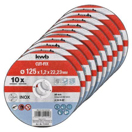 10 discos de corte inox 115 kwb 711921