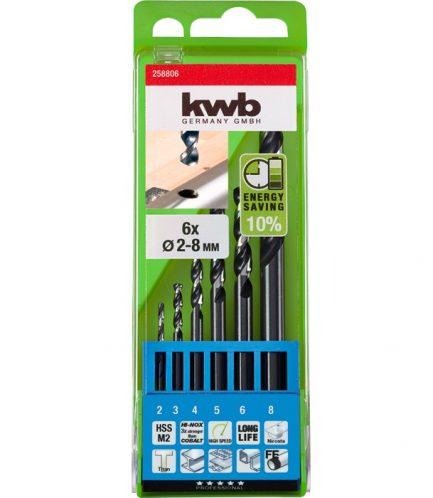 Estojo 6 Brocas Hi-Inox para Inox 2-8mm - kwb - Aurymat