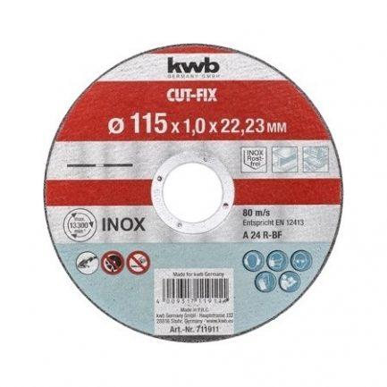 disco corte inox 115 kwb 711911