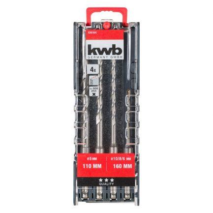 estojo 4 brocas sds kwb 109164 1