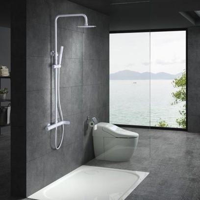 Rampa duche com torneira Dinamarca Branco Mate - wc - Aurymat 2