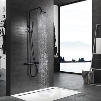 Rampa duche com torneira Dinamarca Preto Mate - wc - Aurymat 2