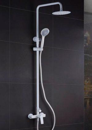 Rampa duche com torneira Luxor Branco Mate - WC - Aurymat