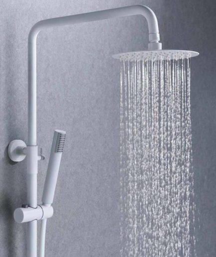 Rampa duche com torneira Milos Branco Mate - wc - Aurymat 3