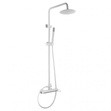 Rampa duche com torneira Milos Branco Mate - wc - Aurymat