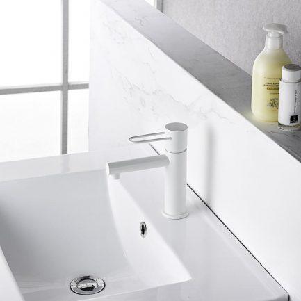 Torneira de lavatório Milos Branco Mate - wc - Aurymat 3