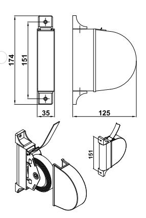 enrolador estore exterior articulado branco desenho