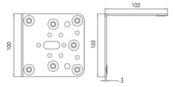 esquadro 103x103x100 ANGULO-303 desenho