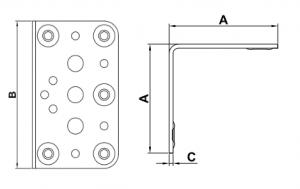 esquadro ANGULO-304 bicromado desenho