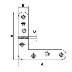 esquadro plano mod. 2 desenho