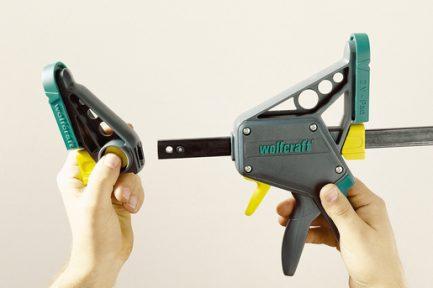 Grampo aperto de uma mão EHZ Pro 100-300 Wolfcraft 8 - Aurymat
