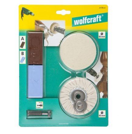 Kit de polimento para berbequim (5pçs) Wolfcraft - Aurymat 2