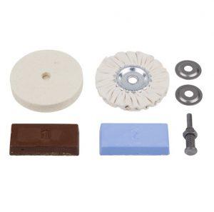Kit de polimento para berbequim (5pçs) Wolfcraft - Aurymat
