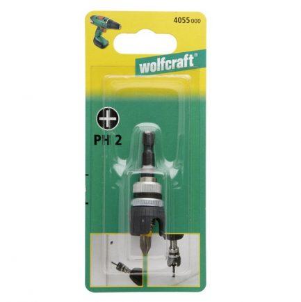 Porta pontas de profundidade ajustavel cponta PH2 Wolfcraft - Aurymat 3