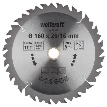 disco serra circular 160 wolfcraft 6733000