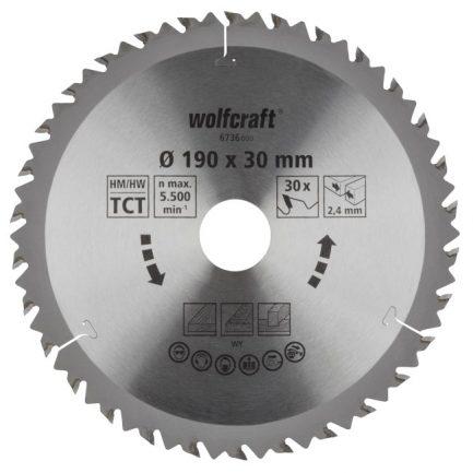 disco serra circular 190 wolfcraft 6736000