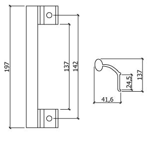 asa para fecho correr aluminio GLK 4310 DT