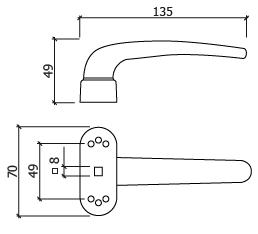 puxadora porta aluminio GLK 4936 DT