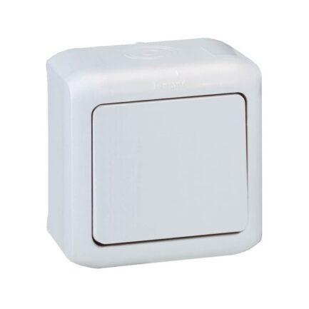 comutador de escada IP44 cinzento legrand 782383